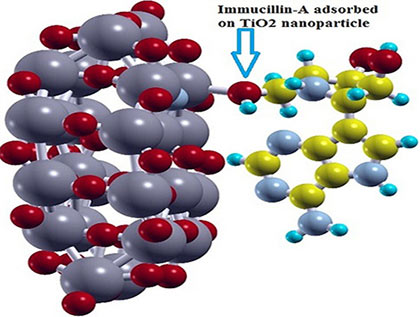 A theoretical investigation of the interaction of Immucillin-A with N-doped TiO2 anatase nanoparticles: Applications to nanobiosensors and nanocarriers